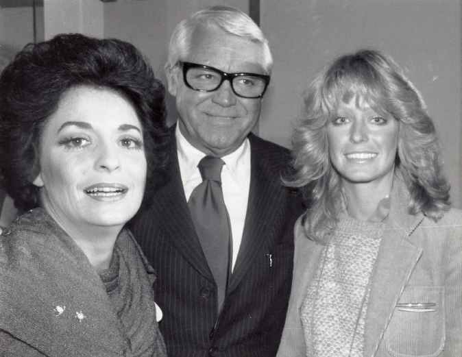 Cary Grant and Farrah Fawcett