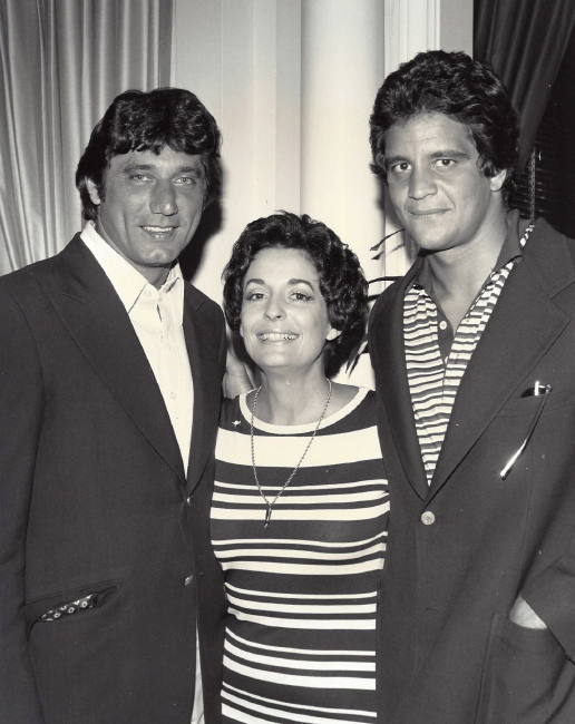 Joe Namath and Mike Maranara